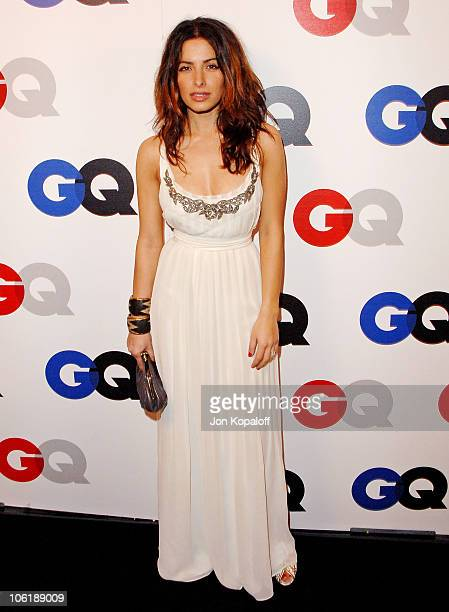 Actress Sarah Shahi arrives at GQ Celebrates 2007 Men Of The Year at the Chateau Marmont Hotel on December 5 2007 in Hollywood California