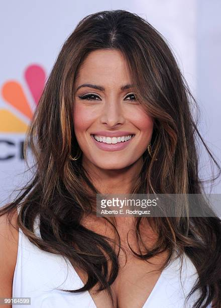 Actress Sarah Shahi arrives at The Cable Show 2010 An Evening With NBC Universal on May 12 2010 in Universal City California