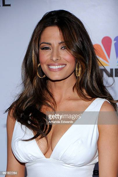 Actress Sarah Shahi arrives at the Cable Show 2010 featuring an evening with NBC Universal at Universal Studios Hollywood on May 12 2010 in Universal...