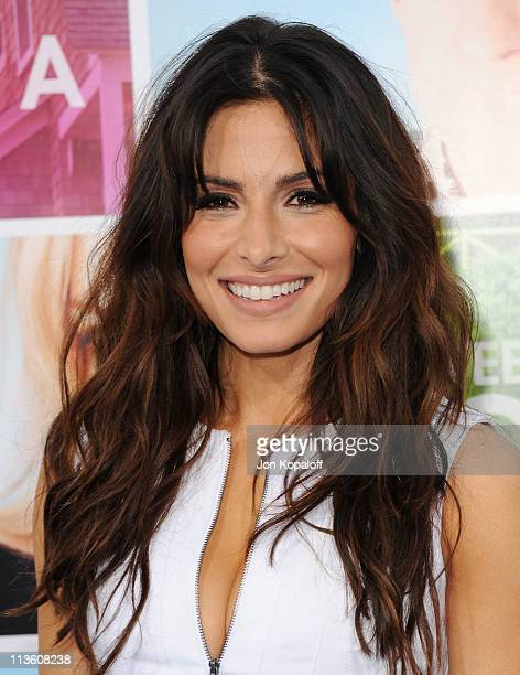 Actress Sarah Shahi arrives at the Los Angeles Premiere 'Something Borrowed' at Grauman's Chinese Theatre on May 3 2011 in Hollywood California