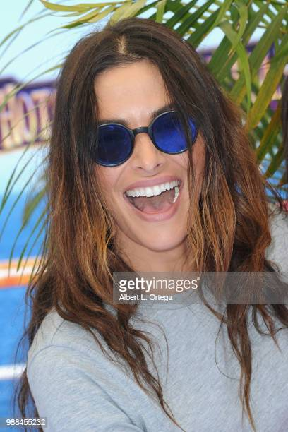 Actress Sarah Shahi arrives for Columbia Pictures And Sony Pictures Animation's World Premiere Of 'Hotel Transylvania 3 Summer Vacation' held at...