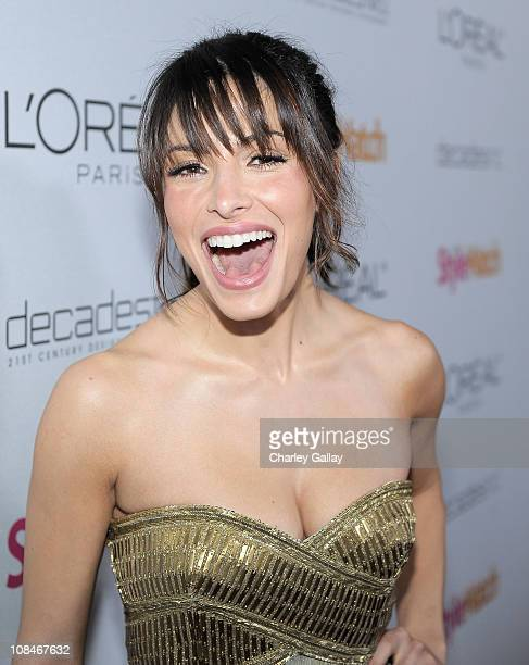 Actress Sarah Shahi arrives to 'A Night Of Red Carpet Style' hosted by People StyleWatch at Decades on January 27, 2011 in Los Angeles, California.