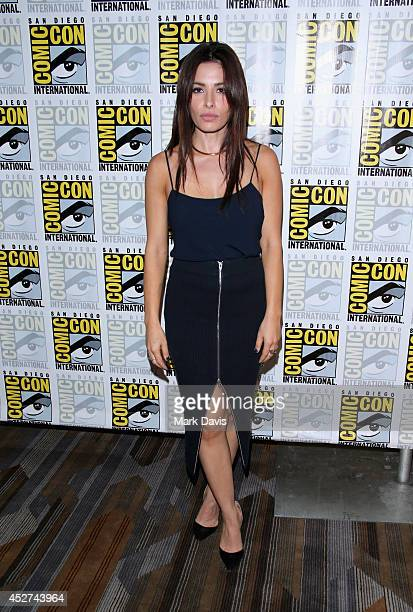 Actress Sarah Shahi attends Person of Interest Press Line during ComicCon International 2014 at Hilton Bayfront on July 26 2014 in San Diego...