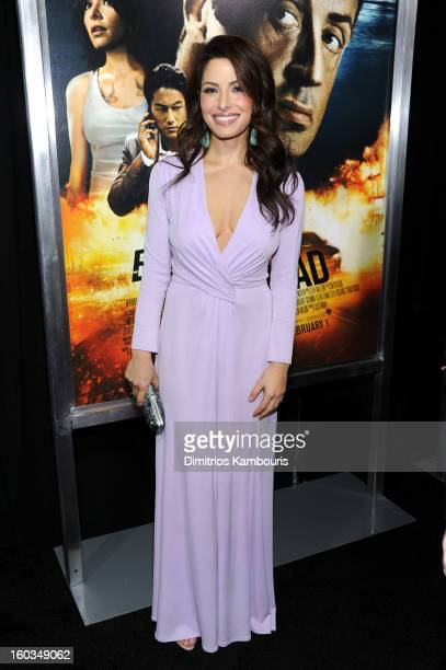 Actress Sarah Shahi attends the 'Bullet To The Head' New York premiere at AMC Lincoln Square Theater on January 29 2013 in New York City