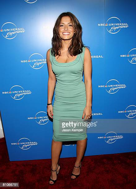 Actress Sarah Shahi attends the NBC Universal Experience at Rockefeller Center on May 12 2008 in New York City