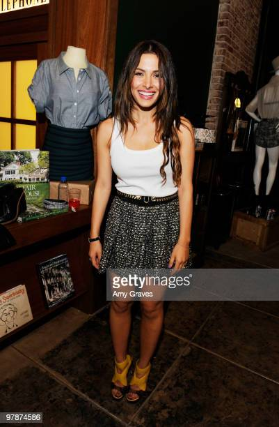 Actress Sarah Shahi attends the Shipley Halmos event at Confederacy on March 18 2010 in Los Angeles California