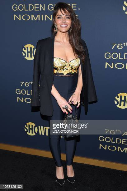 Actress Sarah Shahi attends the Showtime Golden Globe Nominee Celebration in Los Angeles California on January 5 2019