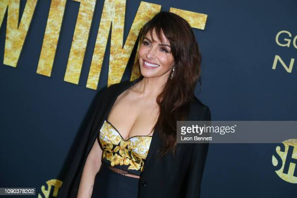 Actress Sarah Shahi attends the Showtime Golden Globe Nominees Celebration at Sunset Tower Hotel on January 05 2019 in West Hollywood California