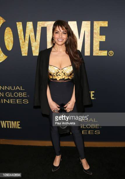 Actress Sarah Shahi attends the Showtime Golden Globe nominees celebration at the Sunset Tower Hotel on January 05 2019 in West Hollywood California