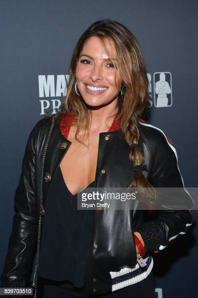Actress Sarah Shahi attends the Showtime WME IME and Mayweather Promotions VIP PreFight party for Mayweather vs McGregor at TMobile Arena on August...