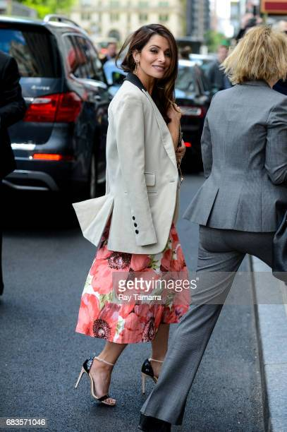 Actress Sarah Shahi enters a Midtown Manhattan hotel on MAY 15 2017 in New York City