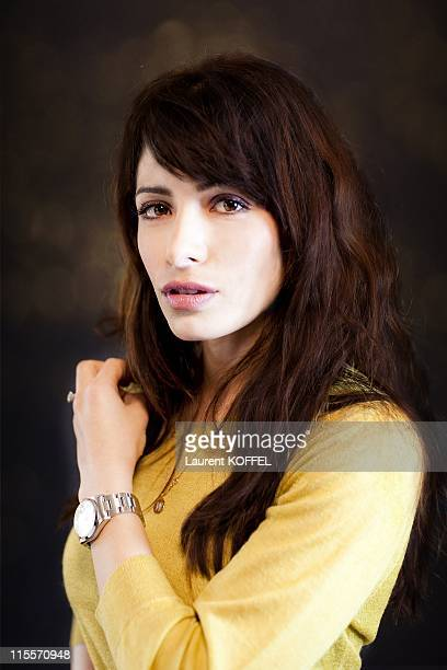 Actress Sarah Shahi poses during a portrait session on March 102011 in ParisFrance