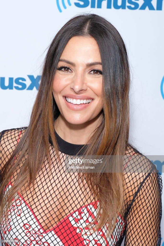Actress Sarah Shahi visits SiriusXM Studios on May 14, 2018 in New York City.