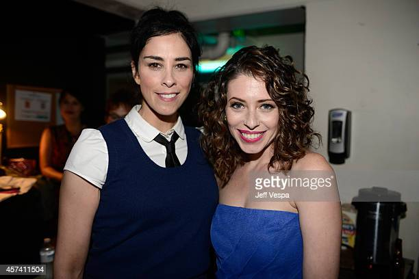 Actress Sarah Silverman and Lauren Miller Rogen attend the 3rd Annual Hilarity for Charity Variety Show to benefit the Alzheimer's Association...
