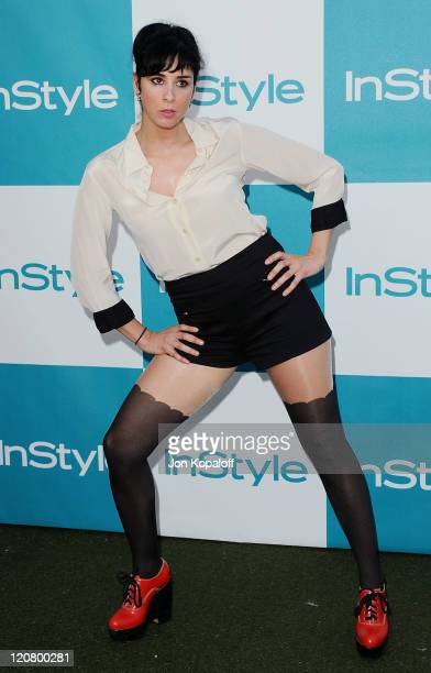 Actress Sarah Silverman arrives at the 10th Annual InStyle Summer Soiree at The London Hotel on August 10 2011 in West Hollywood California