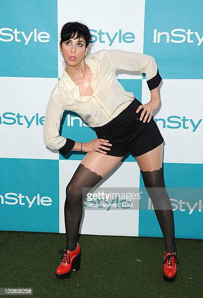 Actress Sarah Silverman arrives at the 10th Annual InStyle Summer Soiree held at The London Hotel on August 10 2011 in West Hollywood California