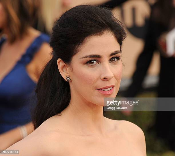 Actress Sarah Silverman arrives at the 22nd Annual Screen Actors Guild Awards at The Shrine Auditorium on January 30 2016 in Los Angeles California