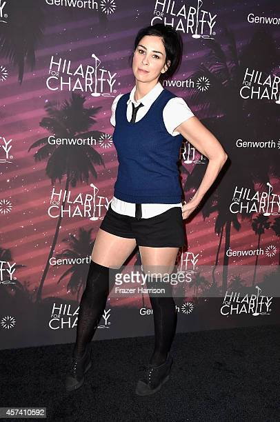 Actress Sarah Silverman arrives at the 3rd Annual Los Angeles Hilarity for Charity Variety Show at Hollywood Palladium on October 17 2014 in...