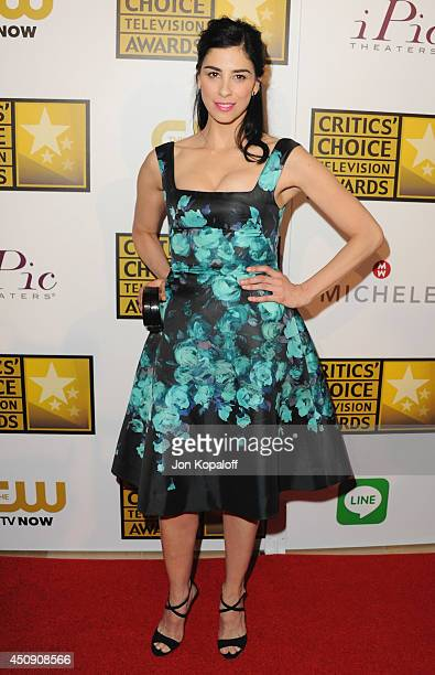 Actress Sarah Silverman arrives at the 4th Annual Critics' Choice Television Awards at The Beverly Hilton Hotel on June 19 2014 in Beverly Hills...