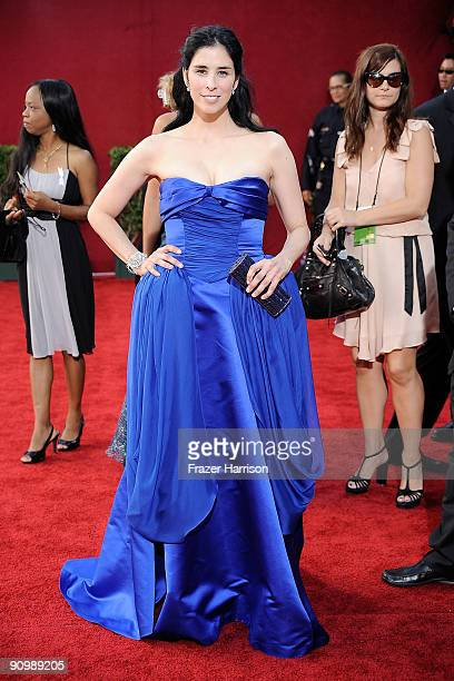 Actress Sarah Silverman arrives at the 61st Primetime Emmy Awards held at the Nokia Theatre on September 20, 2009 in Los Angeles, California.
