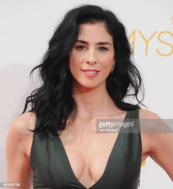 Actress Sarah Silverman arrives at the 66th Annual Primetime Emmy Awards at Nokia Theatre LA Live on August 25 2014 in Los Angeles California