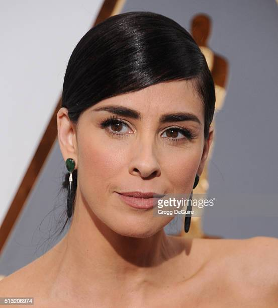 Actress Sarah Silverman arrives at the 88th Annual Academy Awards at Hollywood Highland Center on February 28 2016 in Hollywood California