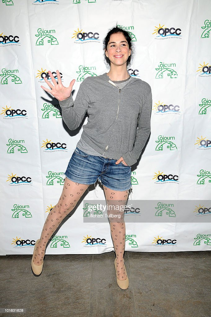 Actress Sarah Silverman arrives at the Ocean Park Community Center's 4th Annual Comedy Night to combat domestic violence on June 4, 2010 in Santa Monica, California.