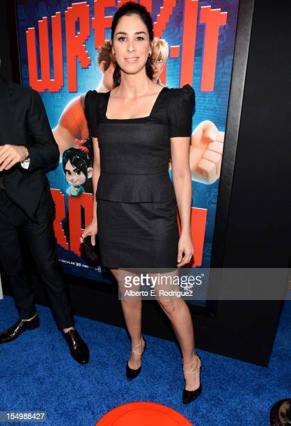 Actress Sarah Silverman arrives at Walt Disney Animation Studios' 'WreckIt Ralph' premiere at the El Capitan Theatre on October 29 2012 in Hollywood...