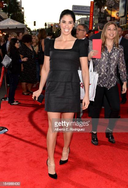 Actress Sarah Silverman arrives at Walt Disney Animation Studios' WreckIt Ralph premiere at the El Capitan Theatre on October 29 2012 in Hollywood...
