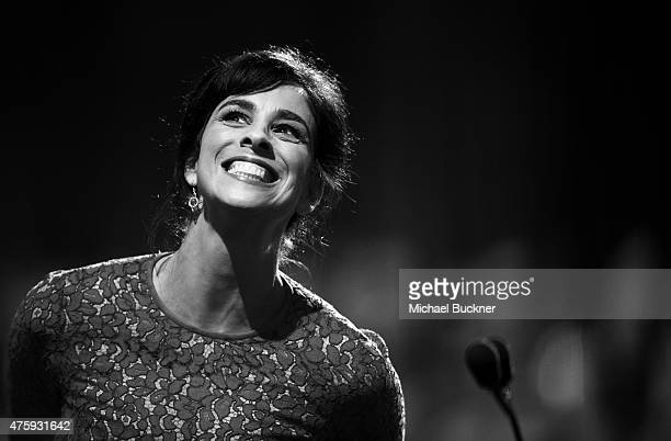 Actress Sarah Silverman attends the 2015 AFI Life Achievement Award Gala Tribute Honoring Steve Martin at the Dolby Theatre on June 4 2015 in...