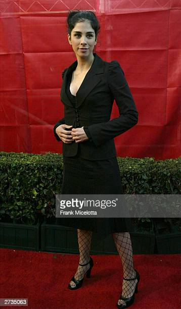 Actress Sarah Silverman attends the 31st Annual American Music Awards at The Shrine Auditorium November 16, 2003 in Los Angeles, California.