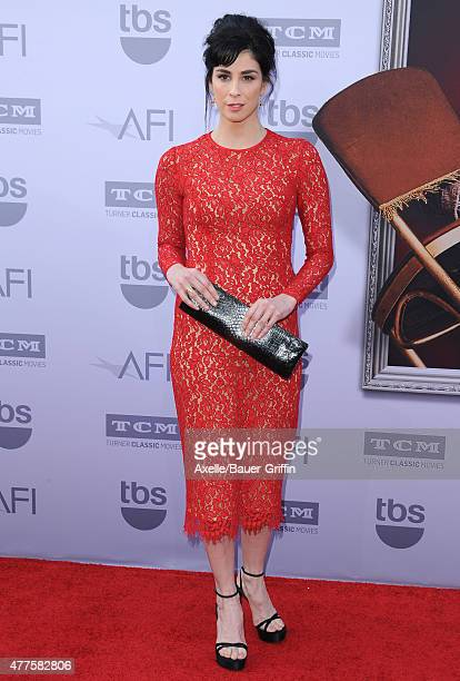 Actress Sarah Silverman attends the 43rd AFI Life Achievement Award Gala at Dolby Theatre on June 4, 2015 in Hollywood, California.