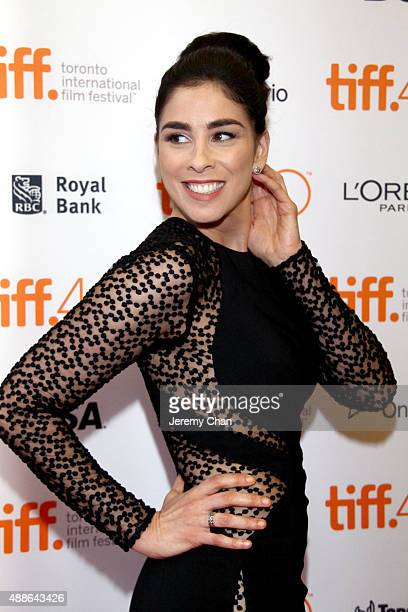 Actress Sarah Silverman attends the I Smile Back premiere during the 2015 Toronto International Film Festival at Princess of Wales Theatre on...