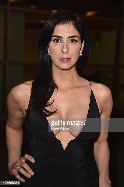 Actress Sarah Silverman attends the premiere of Broad Green Pictures' 'I Smile Back' at ArcLight Cinemas on October 21 2015 in Hollywood California