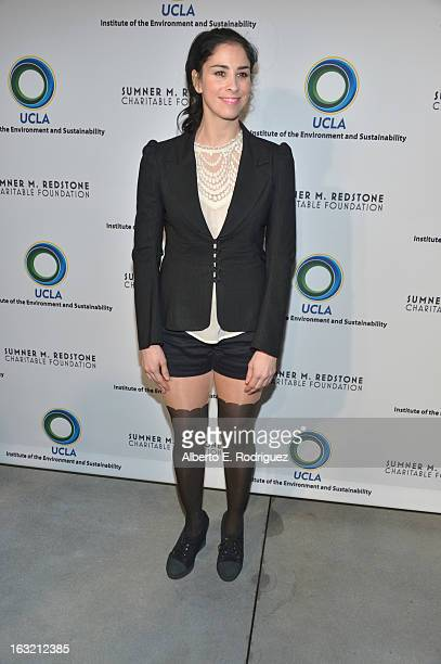 Actress Sarah Silverman attends the UCLA Institute Of The Environment And Sustainability's 2nd Annual Evening Of Environmental Excellence on March 5...