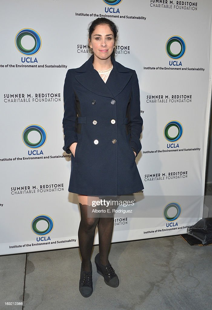 Actress Sarah Silverman attends the UCLA Institute Of The Environment And Sustainability's 2nd Annual Evening Of Environmental Excellence on March 5, 2013 in Beverly Hills, California.