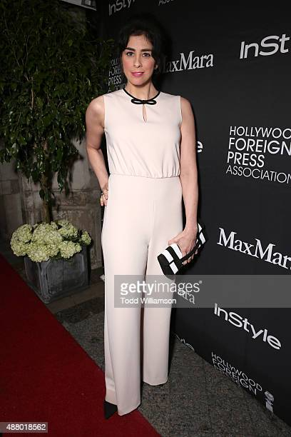 Actress Sarah Silverman in Max Mara attends Hollywood Foreign Press Association InStyle's annual celebration of The Toronto International Film...