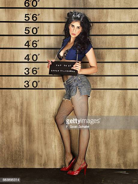 Actress Sarah Silverman is photographed for Maxim Magazine in 2007 in Los Angeles California PUBLISHED IMAGE