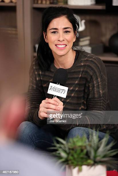 Actress Sarah Silverman speaks at The Variety Studio At Sundance Presented By Dockers on January 25 2015 in Park City Utah