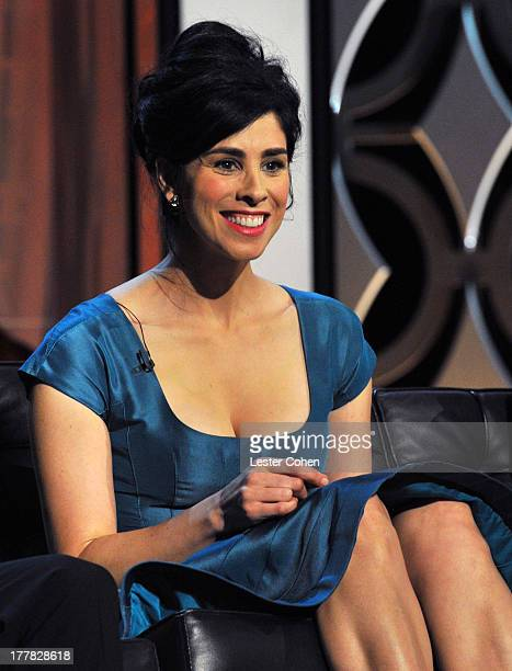 Actress Sarah Silverman speaks onstage during The Comedy Central Roast Of James Franco at Culver Studios on August 25, 2013 in Culver City,...