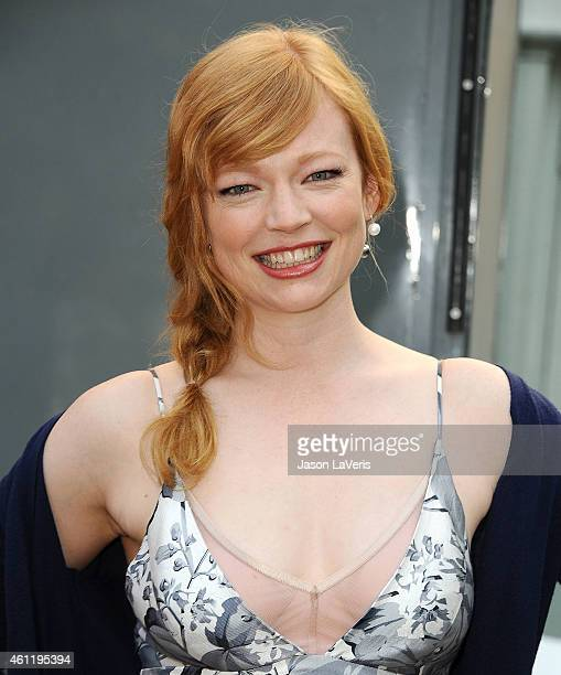 Actress Sarah Snook attends Ethan Hawke's handprint and footprint ceremony at TCL Chinese Theatre on January 8 2015 in Hollywood California