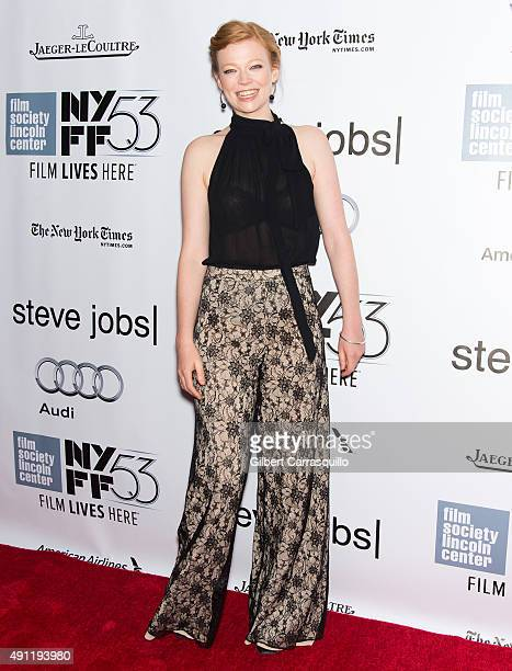 Actress Sarah Snook attends the 53rd New York Film Festival 'Steve Jobs' at Alice Tully Hall Lincoln Center on October 3 2015 in New York City