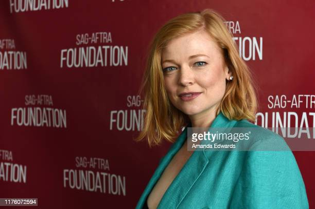 Actress Sarah Snook attends the SAGAFTRA Foundation Conversations with Succession at the SAGAFTRA Foundation Screening Room on September 20 2019 in...