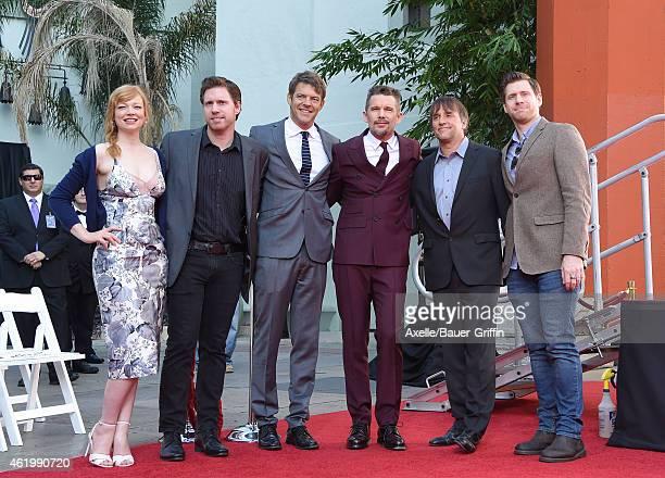 Actress Sarah Snook director/writer Michael Spierig producer Jason Blum actor Ethan Hawke director Richard Linklater and director/writer Peter...