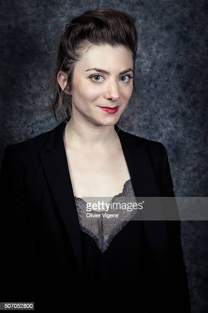 Actress Sarah Suco is photographed for Self Assignment on January 13, 2016 in Alpe d'Huez, France.