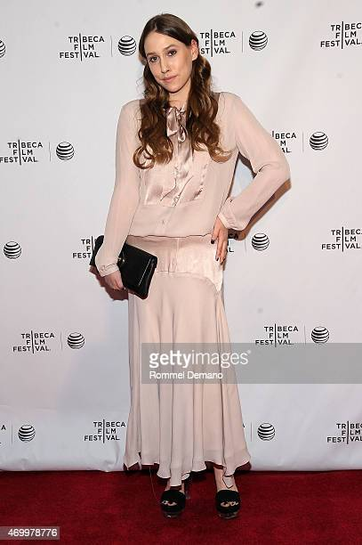 Actress Sarah Sutherland attends the premiere of Emelie during the 2015 Tribeca Film Festival at Chelsea Bow Tie Cinemas on April 16 2015 in New York...