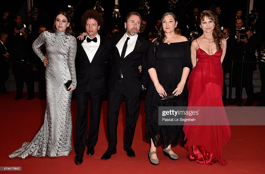 Actress Sarah Sutherland, Director Michel Franco, Actors Tim Roth, Robin Bartlett and Nailea Norvind attend the 'Chronic' Premiere during the 68th annual Cannes Film Festival on May 22, 2015 in Cannes, France.