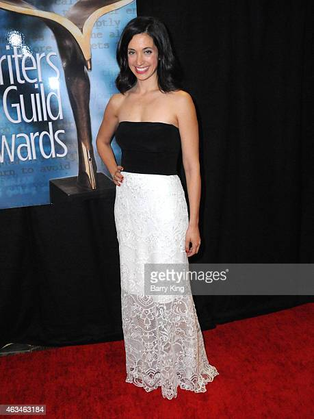 Actress Sarah Treem arrives at the 2015 Writers Guild Awards at the Hyatt Regency Century Plaza on February 14 2015 in Los Angeles California