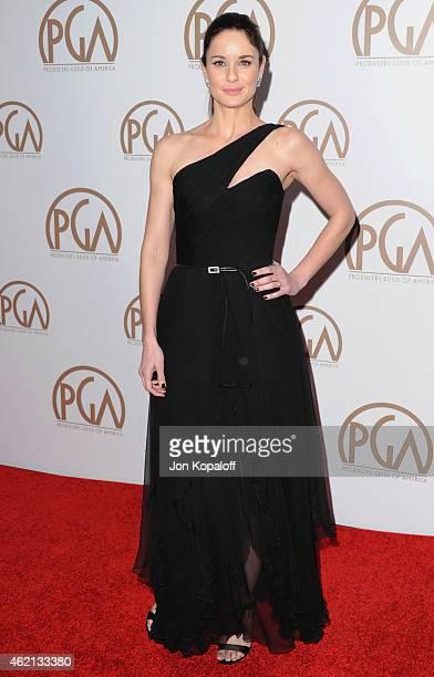 Actress Sarah Wayne Callies arrives at the 26th Annual PGA Awards at the Hyatt Regency Century Plaza on January 24 2015 in Los Angeles California
