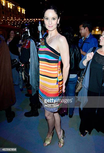 Actress Sarah Wayne Callies attends Hitfix and Lucasfilm's ComicCon Kick off party during ComicCon International 2014 at Hotel Solamar on July 23...